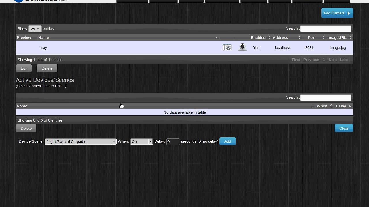 Domoticz USB camera and program `motion` problem by Ondrej Lycka
