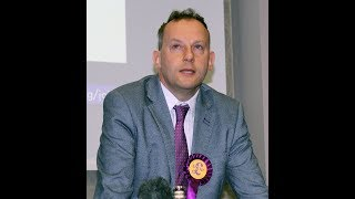 Gareth Bennett AM UKIP in NI for launch of Local Council Elections Campaign 2019