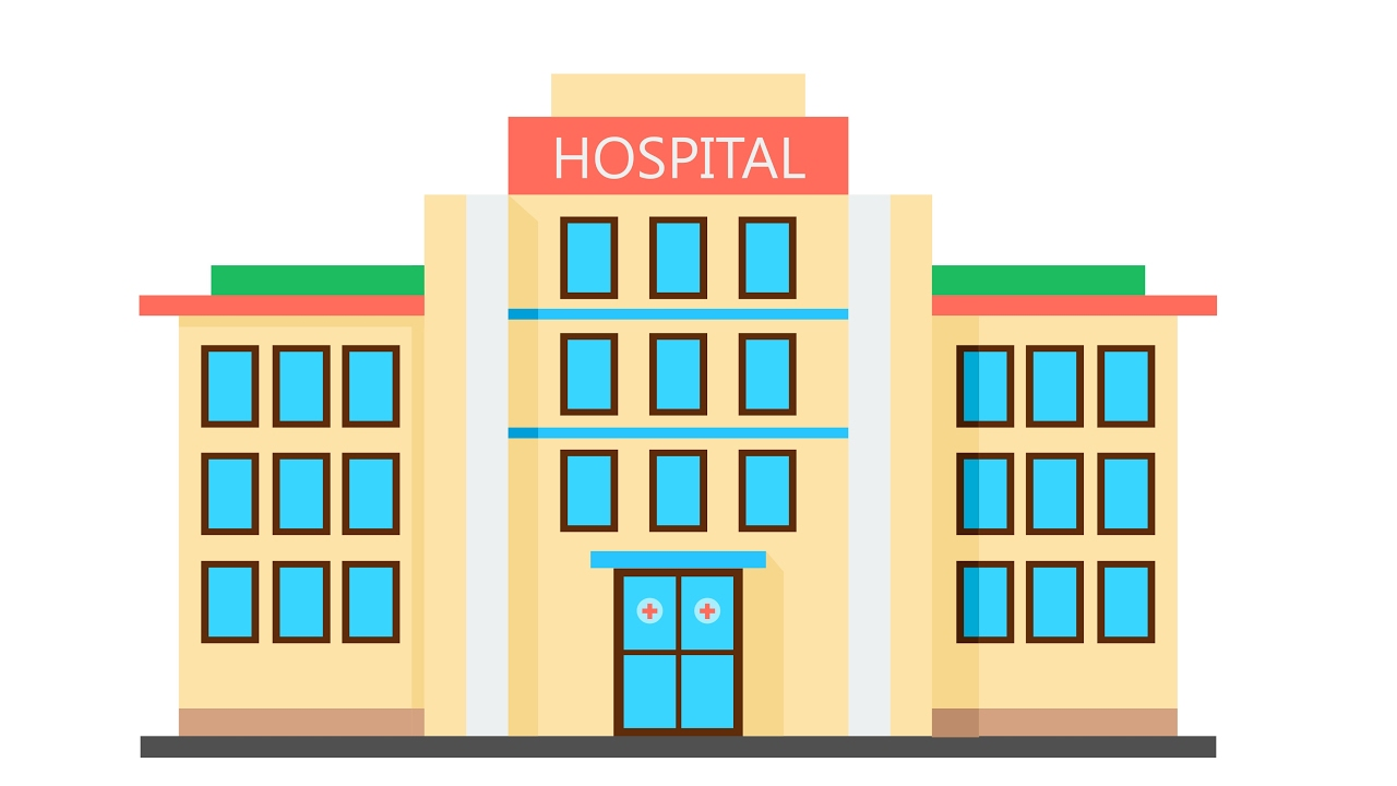 How to draw building flat design hospital youtube malvernweather Gallery