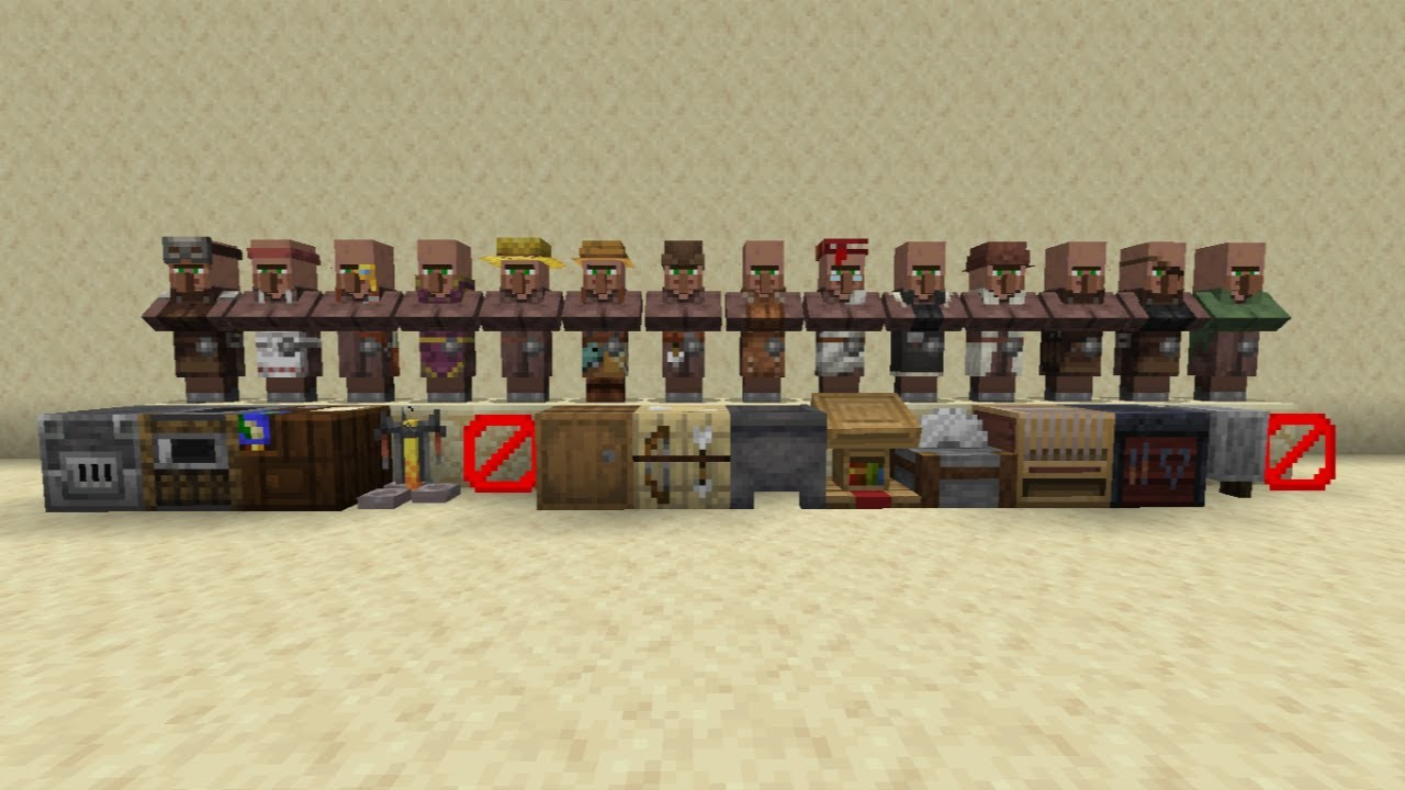 How to change professions for villagers in minecraft - YouTube