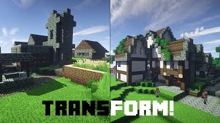 Let´s transform an ugly Minecraft Village! | German