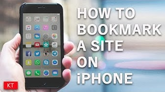 How to bookmark a site on iPhone