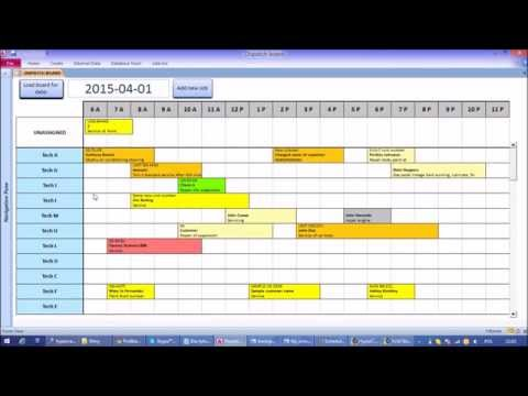 how to create a gantt chart in access 2016