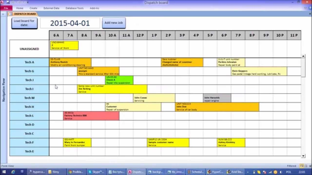 Microsoft Access Interactive Work Load and Capacity Planner - YouTube