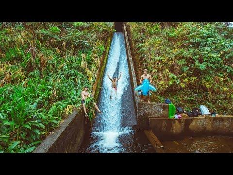 EPIC WATER SLIDE ON BIG ISLAND HAWAII   VLOG 65