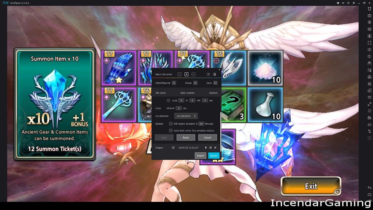 Nox import macro | [King's Raid] How to use Nox Macro for