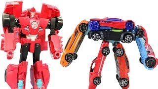 Transformers Magic Hot Wheels Comes Alive! Sideswipe, Optimus, Bumblebee, Grimlock!