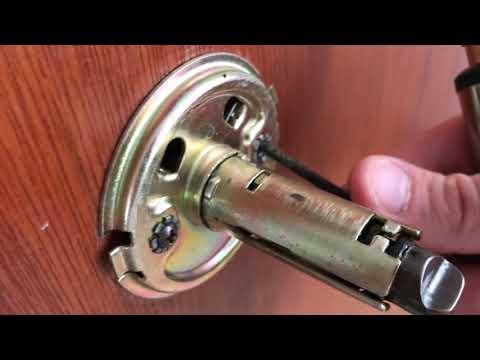 How to remove BRINKS door knob with hidden screws - FAST & EASY!