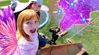 PiRATE Present Day!!  Dad Surprises Adley & Mom with Gold Gifts! Beach Party Fun for Fairy Friends