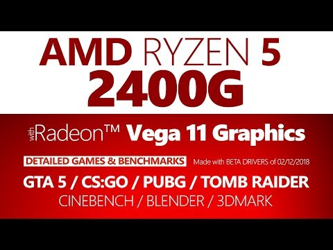 AMD Ryzen 5 2400G Oyun Performansı ve Test Sonuçları (Games& Benchmarks)
