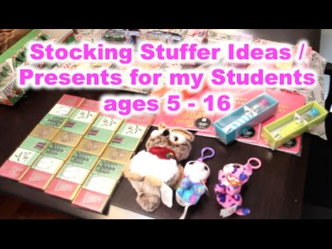 Gifts for my Students / Stocking Stuffer Ideas | Ages 5 - 16