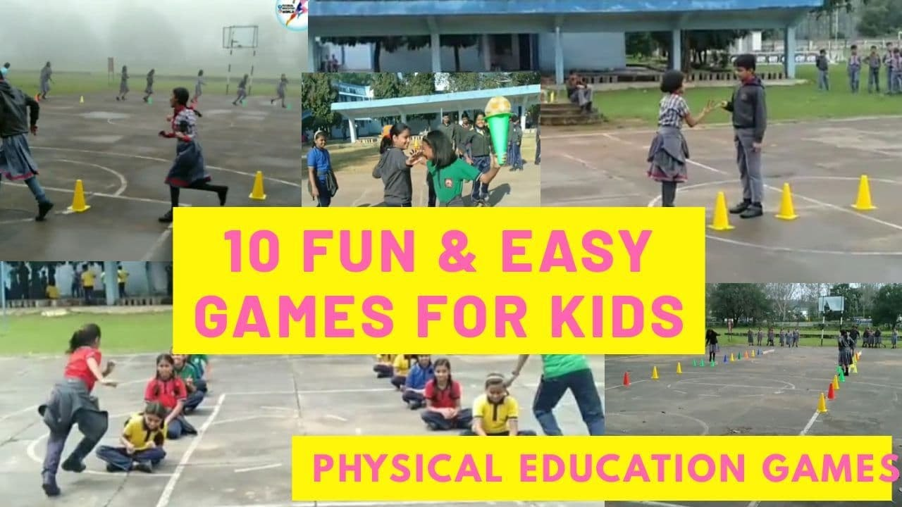 10 Recreational Games (10 Fun & Easy Games for Kids) | Physical Education Games | PE Class | Gam