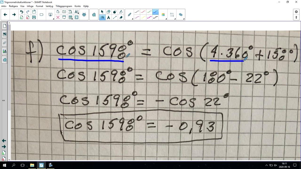 118. Trigonometriska funktioner 4