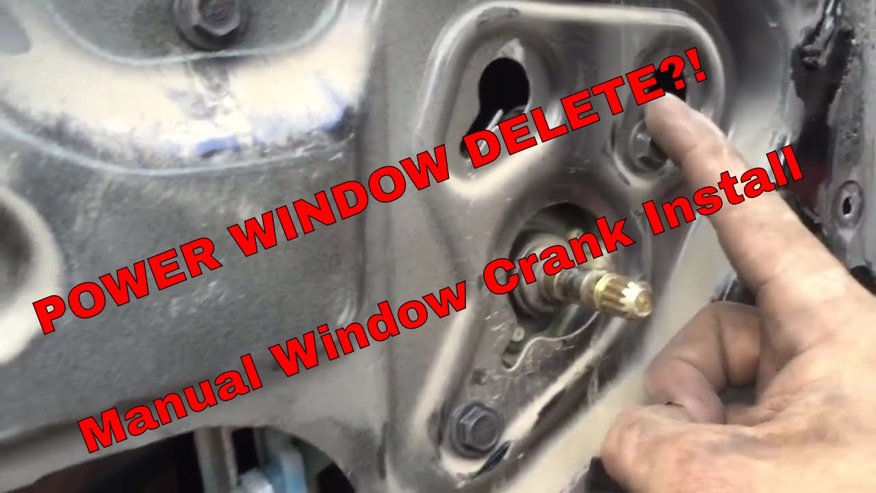 jeep parts converting my power windows to manual youtube rh youtube com Funny Automatic to Manual Converting Automatic to Manual Transmission
