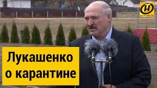 Лукашенко: В спину толкают - давайте карантин! Меня люди на вилы поднимут, нет такой необходимости