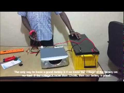 How to Connect a Stand alone Inverter and Deep Cycle Battery