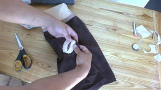 Winter Moccasin Making- Buckskin Uppers: 5/5  Attaching Your Buttons