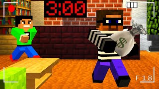 Minecraft PE : SOMEONE BROKE INTO MY HOUSE at 3:00AM