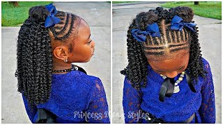 Girls Cute Protective Hairstyle   Picture Day 2018   Children's Natural Hair Care