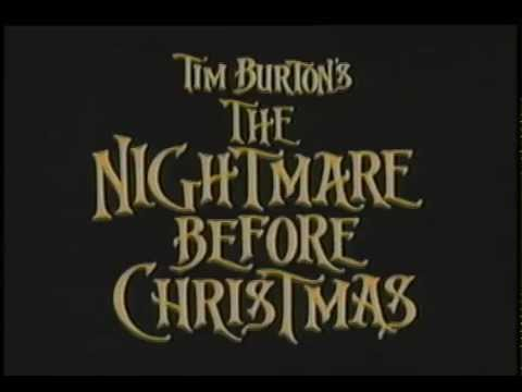 "Touchstone Pictures - ""The Nightmare before Christmas"" (XMas)  TV spot"