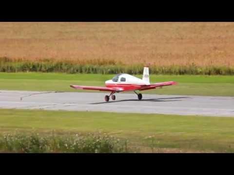 [HD] RVA 2012 American Aviation (Grumman) AA-1 Attérrissage/Landing CSU3 Fly In 2012