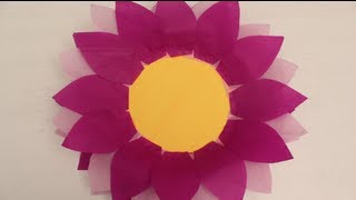 How to make Paper Plate and Tissue Paper Flower