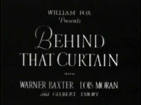 01 Behind That Curtain 1929 Very Good-Old