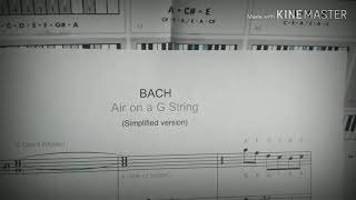 air on a g string - bach - guitar and piano