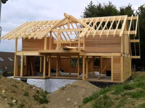 Une maison vision bois construction youtube for Construction en bois details