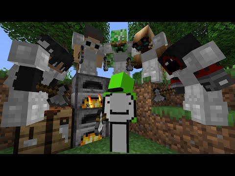 Minecraft Speedrunner VS 5 Hunters - Dream