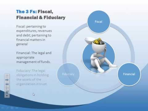 Oversight and the 3 Fs: Financial, Fiscal, Fiduciary