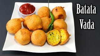 Batata Vada Recipe | Potatoes Chickpeas Flour Fritters Recipe | How to Make Batata Vada