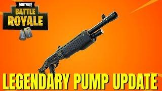 "Fortnite:Battle Royale ""Legendary Pump Shotgun"" Update - Fortnite Pump Shotgun gameplay Update"