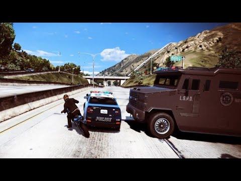 Gtav - Franklin Escaping From Cops #shorts #gtav #gameplay #stunt