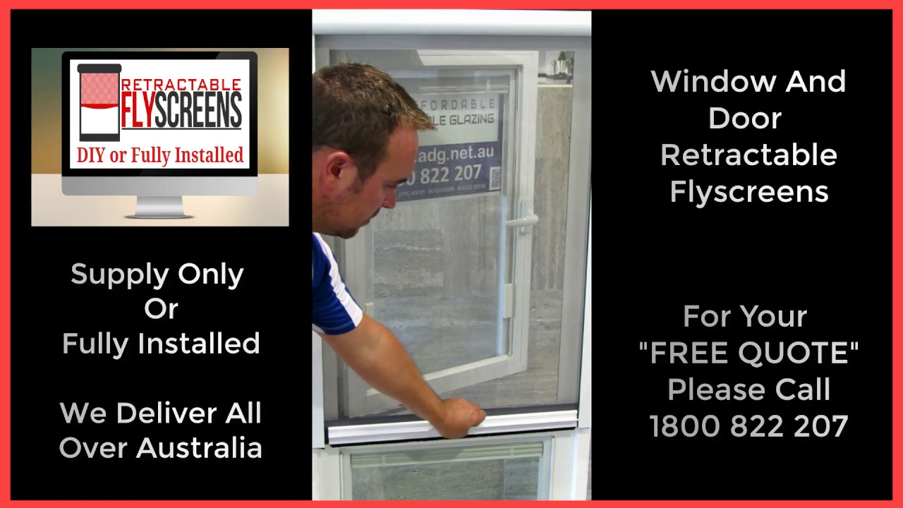 Retractable fly screens for windows and doors south perth for Retractable fly screens perth