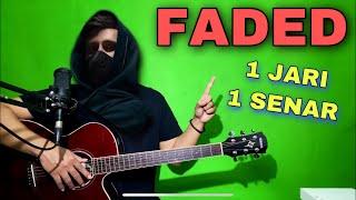 Download lagu Tutorial Melodi (FADED - Alan Walker) cuman pake 1 JARI 1 SENAR (Guitar)