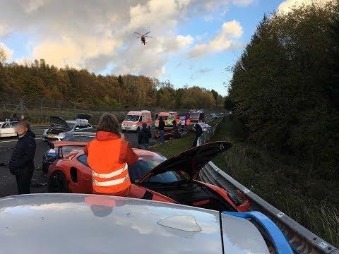 THE HUGE Nürburgring CRASH gt3 rs/ Lamborghini huracan performante