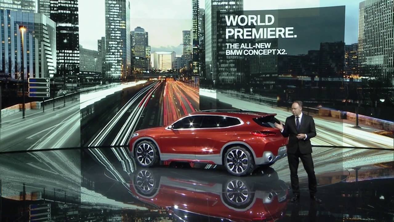 Model BMW Group Press Conference At The 2016 Paris Motor Show
