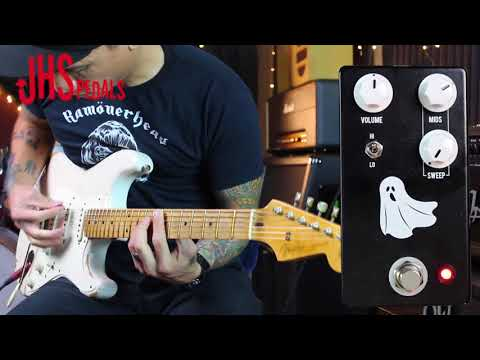 JHS Haunting Mids - Sweepable Mids boost/cut pedal - demo by RJ Ronquillo