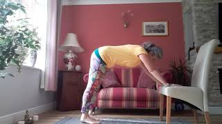 Yoga for beginners with simple postures showing adaptations (Video 2 of 3)