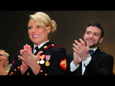"""Justin Timberlake's Marine Corp Ball Date Says He """"Brought Sexy Back!"""""""