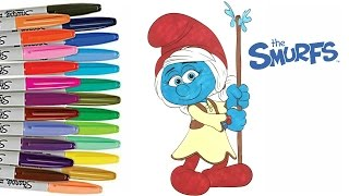 Smurfs the Lost Village SMURFWILLOW Coloring Book Page How to Color Smurfs
