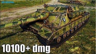 ГРАМОТНАЯ ИГРА на ПТ-САУ FV217 Badger 🌟 10100+ dmg 🌟 World of Tanks лучший бой на пт 10 Барсук