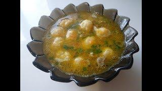 Суп с сырными шариками (на бульоне)
