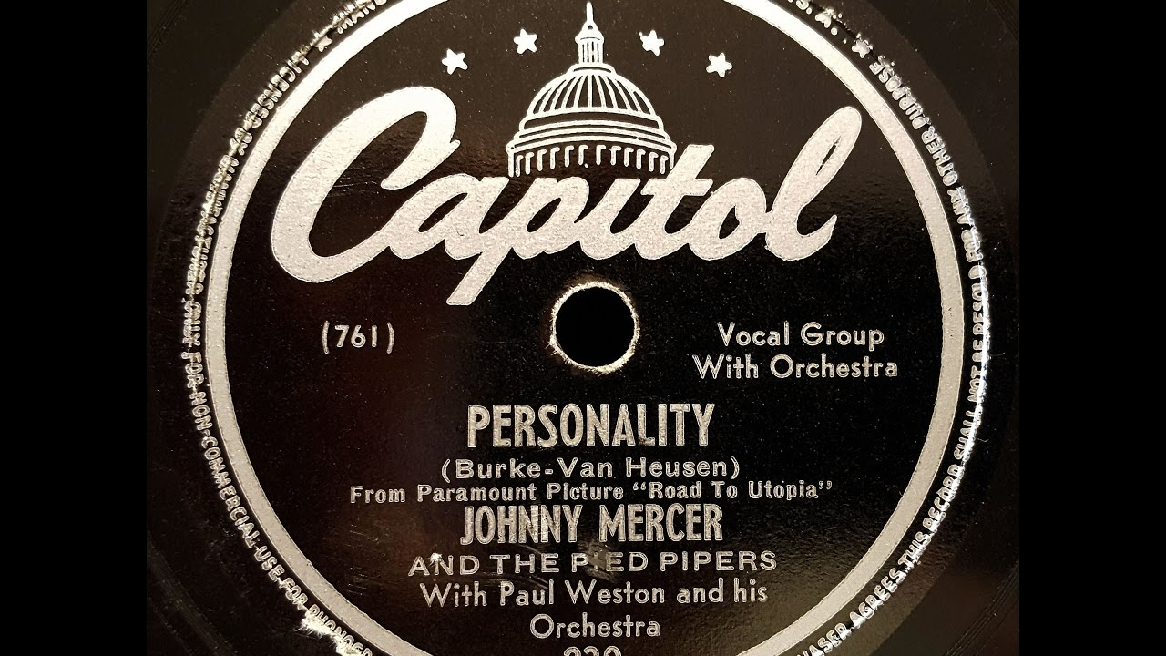 Johnny Mercer With Pied PipersAnd Paul Westons Orchestra The Best Of Johnny Mercer