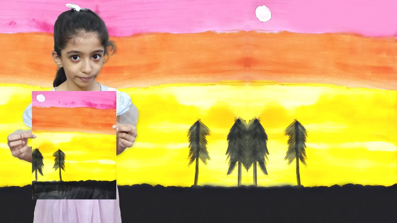 How to Draw Easy Scenery Drawing for Kids