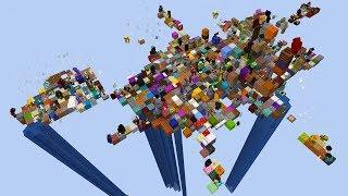 100 игроков получают каждые 30 секунд случайный предмет в Minecraft