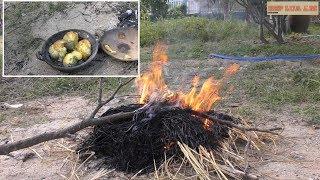 Hột vịt nướng củi + rơm. ^.^