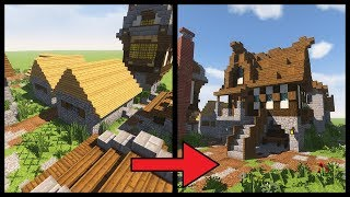 How to transform a minecraft village house video