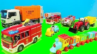 Lego Duplo, Fire Trucks, Train Colors, Playmobil, Tractor, Bruder Müllauto, Police Toys, for Kids